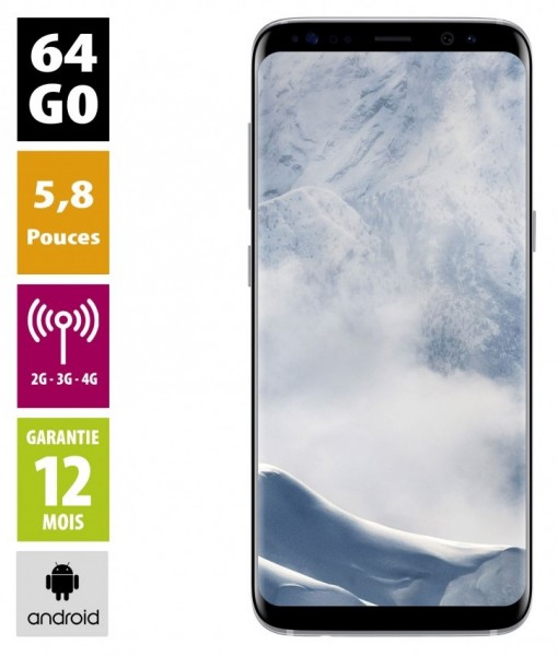 Galaxy S8+ Argent Polaire 64GB reconditionné - Grade A+