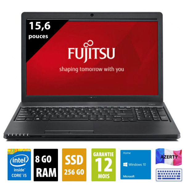Fujitsu Lifebook A359 - 15,6 pouces - Core i5-8250U@1.60GHz - 8Go RAM - 256Go SSD - WXGA(1366x768) - Windows 10 home
