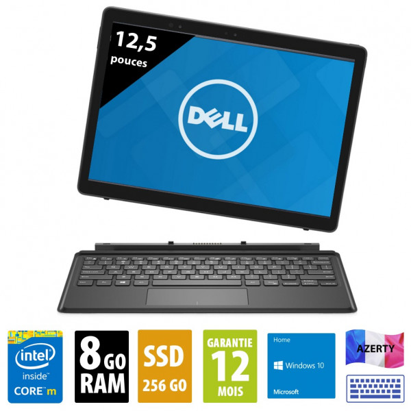 Dell Latitude E7275 - 12,5 pouces - Core m5-6Y57 @ 1.10GHz - 8Go RAM - 256Go SSD - WSXGA (1920 x 1080) - Windows 10 Home