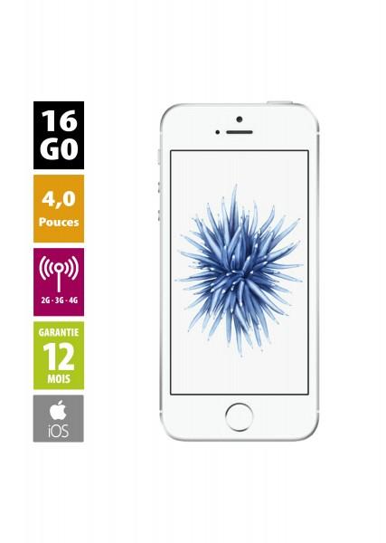 Apple iPhone SE - 16Go argent reconditionné - Grade A+