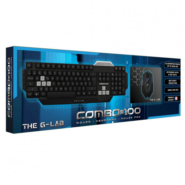 Combo Clavier + souris THE G-LAB Combo#100
