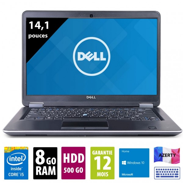 Dell Latitude E7440 - 14,1 pouces - Core i5-4310U@2,00 GHz - 8Go RAM - 500Go HDD - WXGA (1366x768 ) - Windows 10 Home