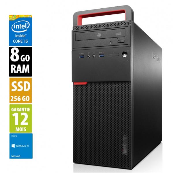 Lenovo ThinkCentre M700 - Core i5-6400@2,70GHz - 8Go RAM - 256Go SSD - DVD-R - Windows 10 Home
