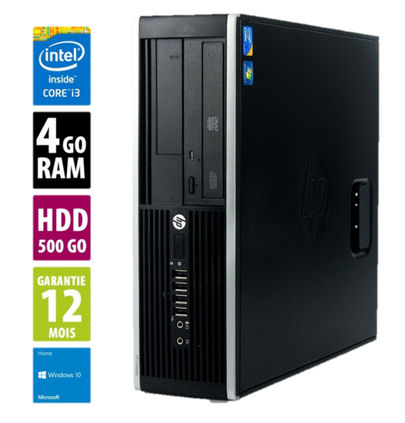 HP Elite 8300 SFF - Core i3 -3220@3,30GHz - 4Go RAM - 500Go HDD - DVD-RW - Windows 10 Home