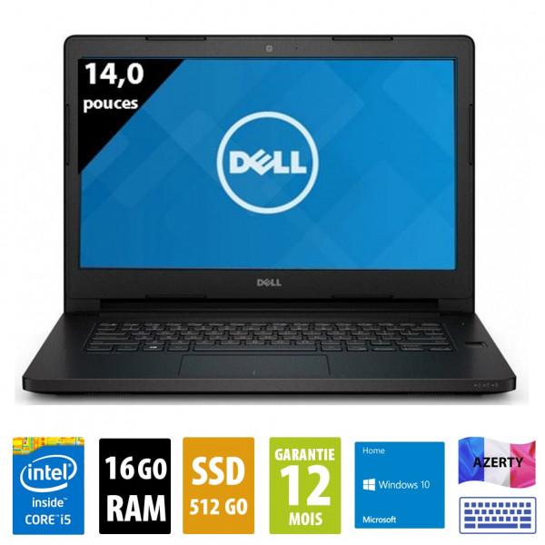 "Dell Latitude E5470 - 14"" pouces - Core i5-6300U@2,40 GHz - 16Go RAM - 512Go SSD - WXGA ( 1366x768 ) - Windows 10 Home"