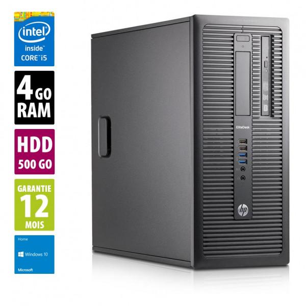 HP EliteDesk 800 G1 TWR - Core i5-4570@3.20GHz - 4Go RAM - 500Go HDD - Windows 10 Home