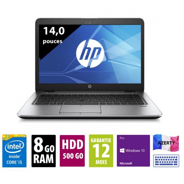 HP Elitebook 840 G3 - 14 pouces - Core i5-6300U@2,40GHz - 8Go RAM - 500Go HDD - WXGA (1366x768) - Windows 10 Pro