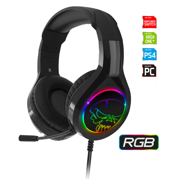 Casque Audio Gaming LED RGB – PRO-H8 – SPIRIT OF GAMER - Neuf