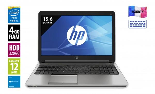 HP Elitebook 650 G1 - 15,6 pouces - Core i3-4000U@2.40GHz - 4Go RAM - 320Go - DVD-RW - HD (1280x720) - Windows 10 Home