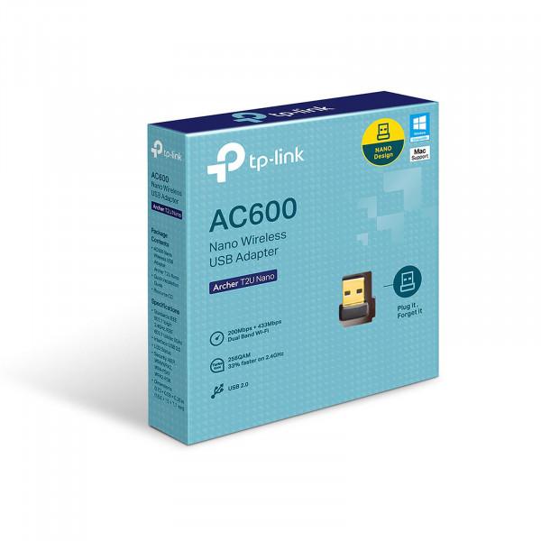 TP-Link Archer T2U Nano Clé WiFi AC 600 Mbps, adaptateur USB wifi, dongle wifi - Neuf