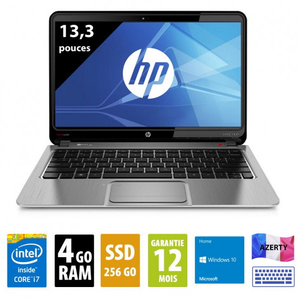 HP Spectre XT Pro - 13,3 pouces - Core i7-3537U@2,00GHz - 4Go RAM - 256Go SSD - WSXGA (1366x768) - Windows 10 Home