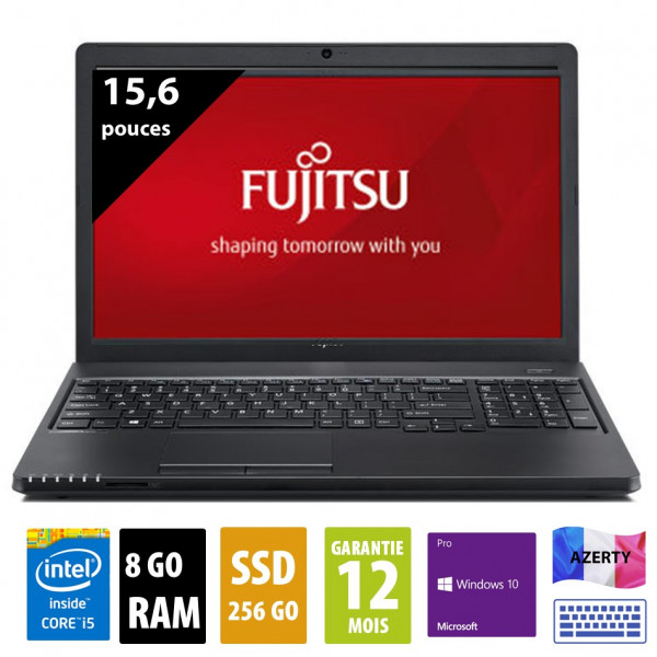 Fujitsu Lifebook A359 - 15,6 pouces - Core i5-8250U@1.60GHz - 8Go RAM - 256Go SSD - WXGA(1366x768) - Windows 10 Pro