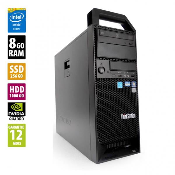 Lenovo ThinkStation S30 - Xeon E5-1620 v2@3.70GHz - 8Go RAM - 1256Go SSD/HDD - DVD-R - Sans OS