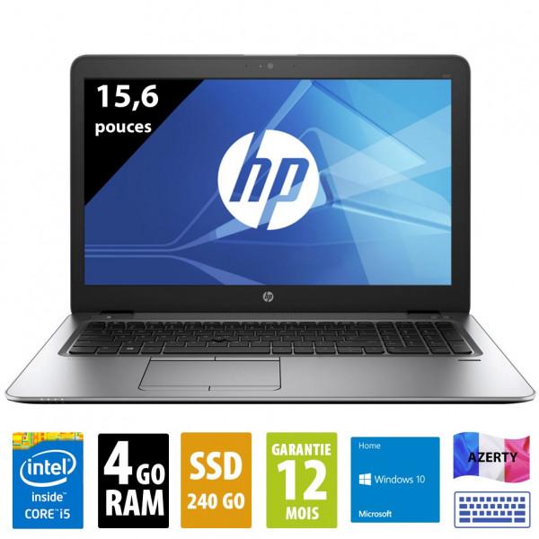 HP Elitebook 850 G1 - 15,6 pouces - Core i5-4300U@1.90GHz - 4Go RAM - 240Go SSD - WXGA (1366x768) - Windows 10 Home