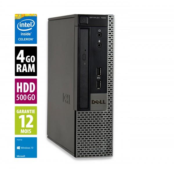 Dell Optiplex 7020 USFF - Celeron G1820@2.70GHz - 4Go RAM - 500Go HDD - DVD-RW -  Windows 10 Home