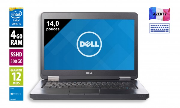 Dell Latitude E5440 - 14,1 pouces - Core i5-4300U@1.90GHz - 4Go RAM - 500Go SSHD - WXGA (1366x768) - Windows 10 Home