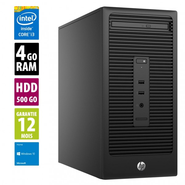 HP G 280 G2 - Core i3-6100@3,70GHz - 4Go RAM - 500Go HDD - Windows 10 Home