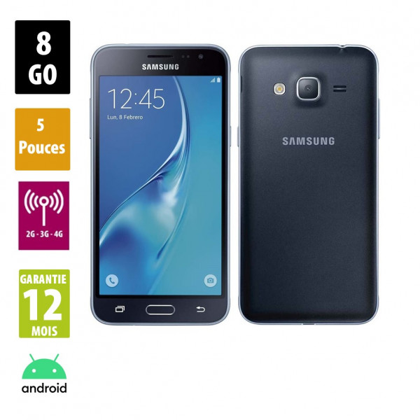 Galaxy J3 Black 8GB reconditionné - Grade A