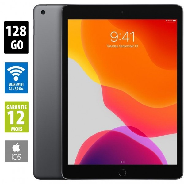 "iPad 10,2"" 7e génération (2019) 128 Go - WiFi - Gris Sidéral - Sans Port Sim"