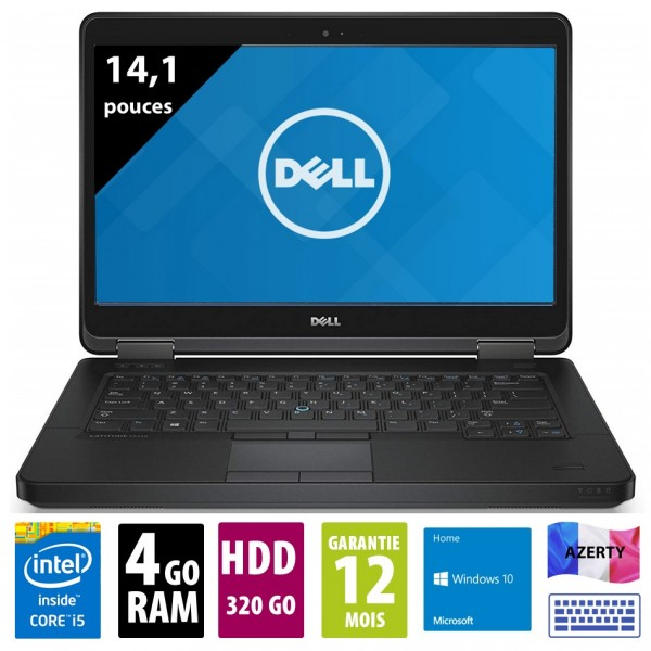 Dell Latitude E5440 - 14,1 pouces - Core i5-4310U@1.90GHz - 4Go RAM - 320Go HDD - DVD-R - WXGA (1366x768) - Windows 10 home
