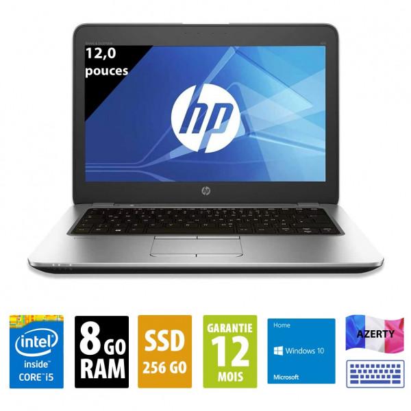 HP Elitebook 820 G3 - 12,5 pouces - Core i5-6200U@2,30GHz - 8Go RAM - 256Go SSD - WXGA(1366x768) - Windows 10 Home
