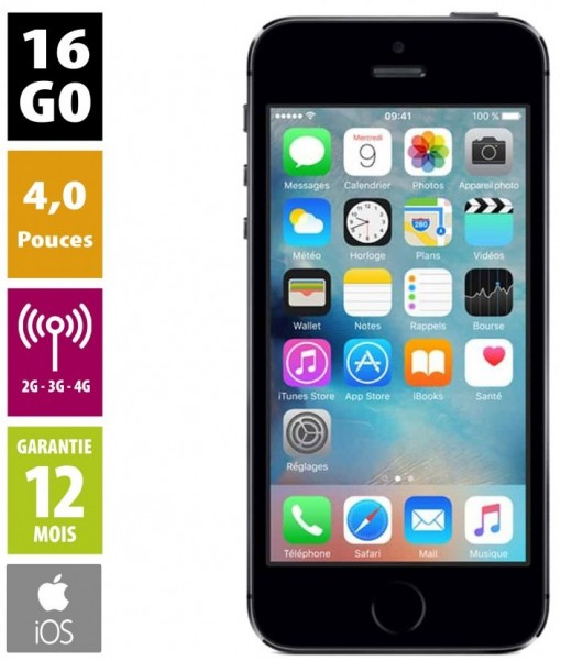 Apple iPhone 5S 16Go gris reconditionné
