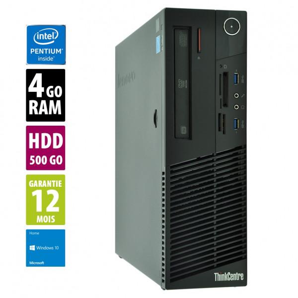 Lenovo ThinkCentre M83 - Pentium G3240@3.10GHz - 4Go RAM - 500Go HDD - Windows 10 Home