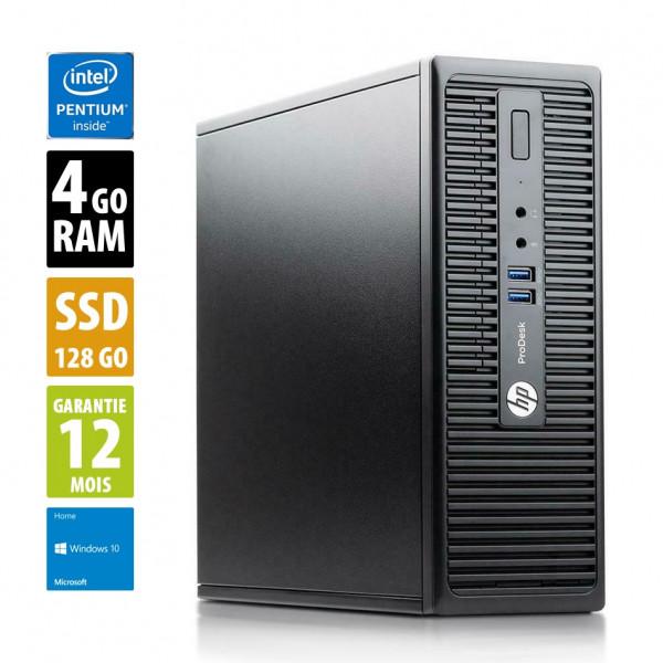 HP ProDesk 400 G3 SFF - Pentium G4400@3.30GHz - 4Go RAM - 128Go SSD - Windows 10 Home