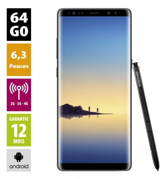 Galaxy Note 8 64GB Black reconditionné - Grade A+