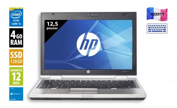 HP Elitebook 2560p - 12,5 pouces - Core i5-2540M@2.60GHz - 4Go - 128Go SSD - DVD-R - WXGA (1366x768) - Windows 10 Home