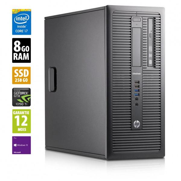 HP EliteDesk 800 TWR - Core i7-4770@3.40GHz - 8Go RAM - 250Go SSD - Windows 10 Pro