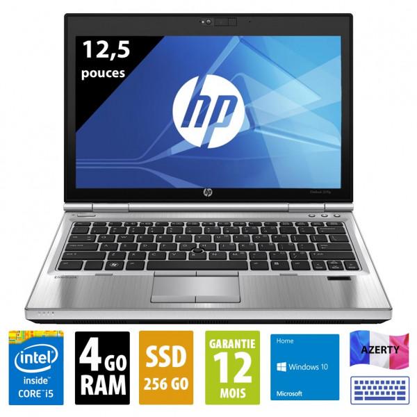 HP Elitebook 2570p - Core i5-3210M@2,50GHz - 4Go RAM - 256Go SSD- DVD-R - Windows 10 Home