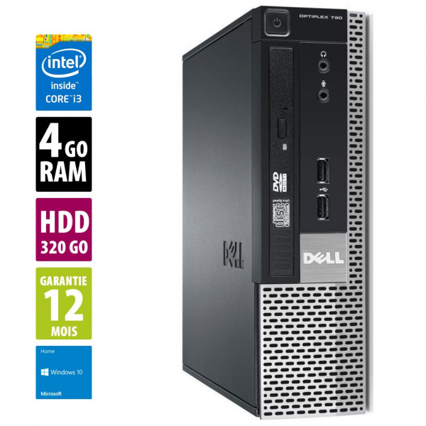 HP Compaq 6200 Pro SFF -Intel(R) Core i3-2100 CPU @ 3.10GHz- 4 Go RAM - 320 Go - Win 10 Home