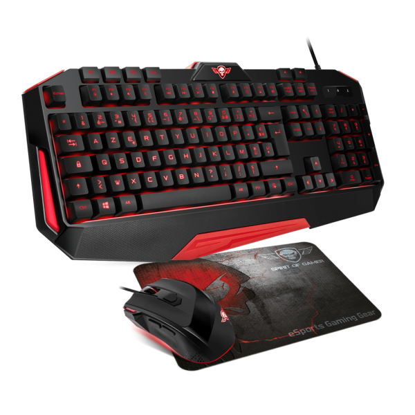 "Pack clavier + souris + tapis ""Spirit Of Gamer"""