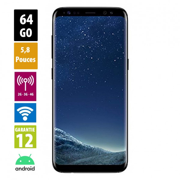 Galaxy S8 Midnight Black 64GB reconditionné - Grade A