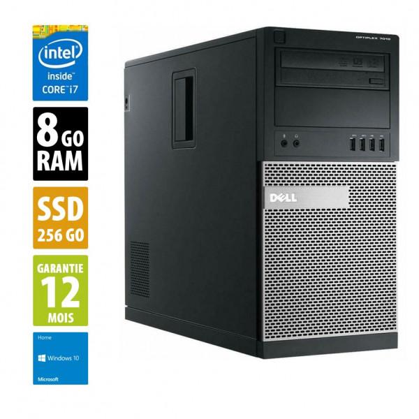 Dell Optiplex 7010 MT - Intel Core i7-3770@3.40GHz - 8Go RAM - 256Go SSD - Windows 10 Pro